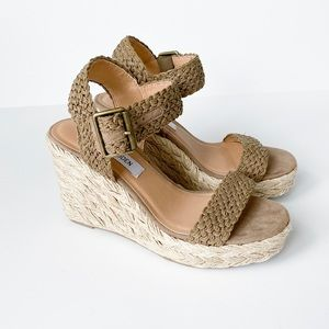 NEW Steve Madden Espadrille Wedge Sandals sz 7